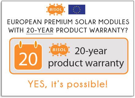 20 year product warranty