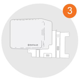 Enphase AC batterij - op beugel plaatsen