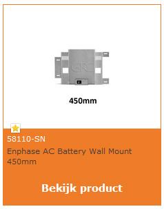 Enphase AC batterij beugel