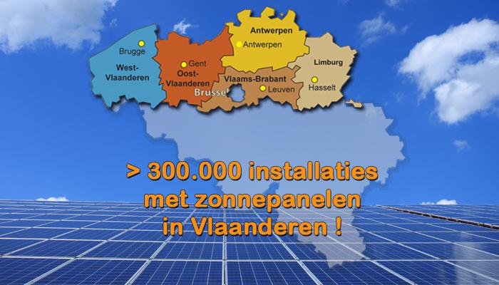 >300.000 installaties in Vlaanderen