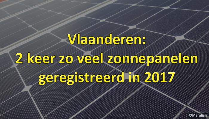 Vlaanderen zonnepanelen 2017