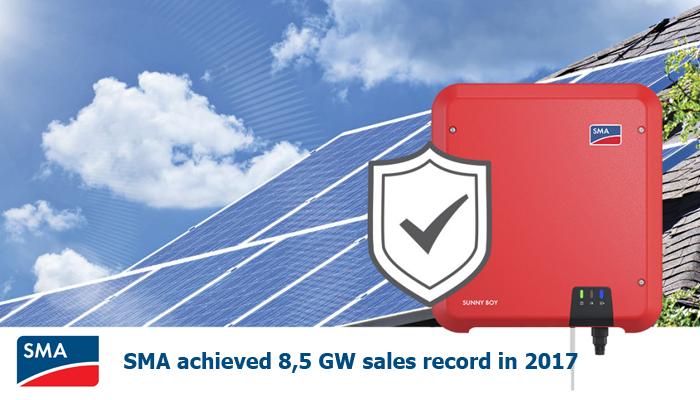 SMA Achieves 8,5GW sales record in 2017